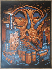 2019 The Black Keys - Milwaukee Silkscreen Concert Poster by Munk One