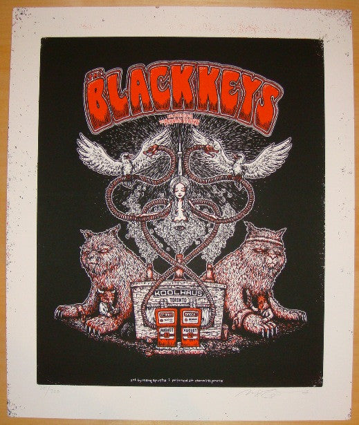 2010 The Black Keys - Toronto Concert Poster by Marq Spusta