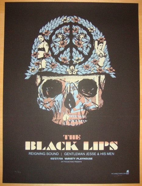 2009 The Black Lips - Silkscreen Concert Poster by Methane