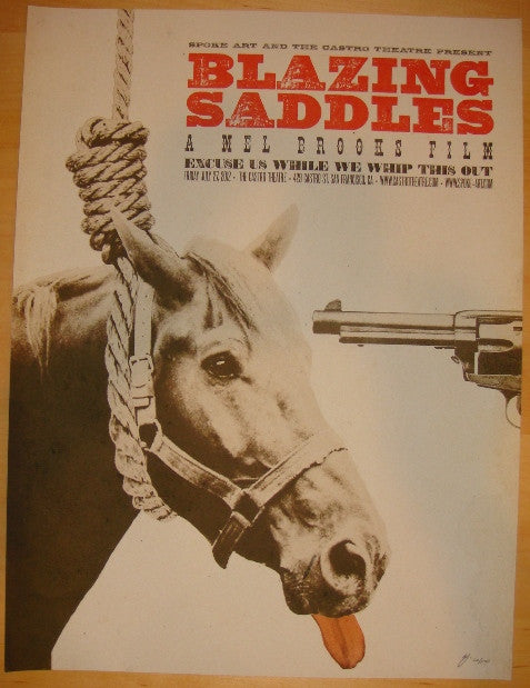 "2012 ""Blazing Saddles"" - Movie Poster by Brandon Schaefer"