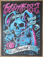 2015 Blink-182 - Costa Mesa Silkscreen Concert Poster by Brandon Heart