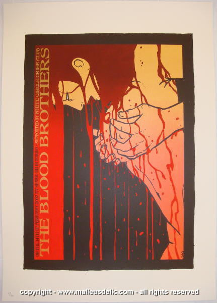 2007 The Blood Brothers Silkscreen Concert Poster by Malleus