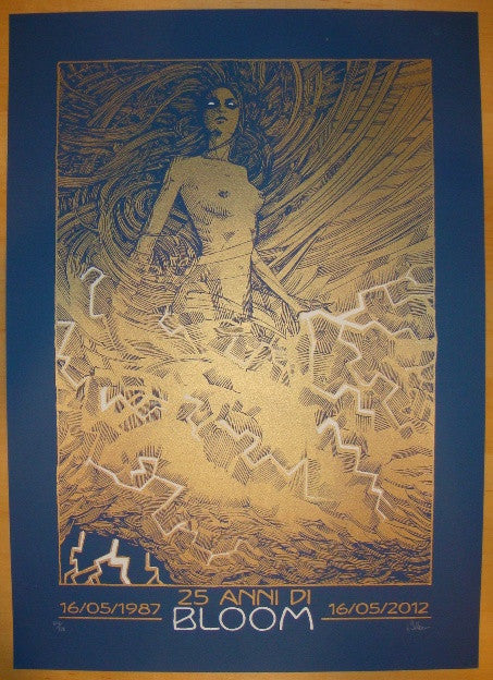 2012 Bloom - 25th Anniversary Silkscreen Poster by Malleus