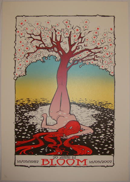 2007 Bloom - 20th Anniversary Silkscreen Poster by Malleus