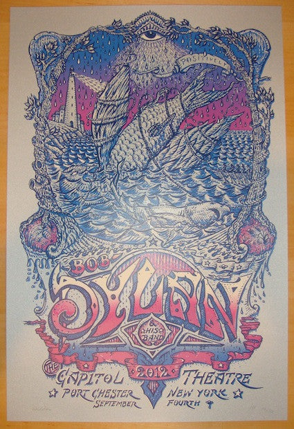 2012 Bob Dylan - Port Chester Concert Poster by David Welker
