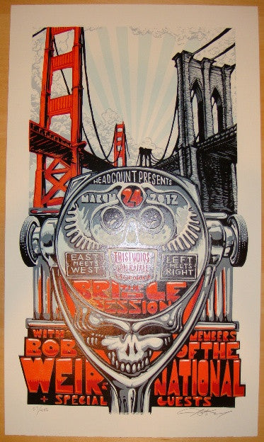 2012 Bob Weir and The National - Concert Poster by AJ Masthay