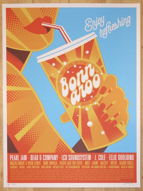 2016 Bonnaroo Music & Arts Festival - Silkscreen Concert Poster by Dan Stiles