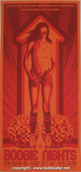 "2007 ""Boogie Nights"" Silkscreen Movie Mini Poster by Todd Slater"