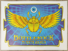 2013 Bottlerock Music Festival - Napa Silkscreen Concert Poster by Dave Hunter