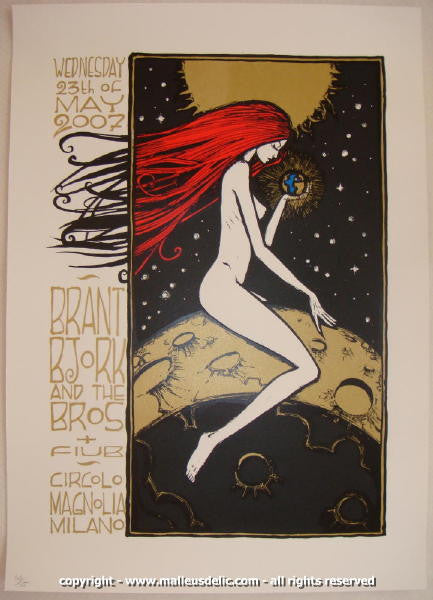 2007 Brant Bjork & the Bros Silkscreen Concert Poster by Malleus
