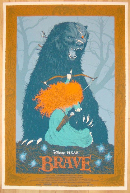 "2013 ""Brave"" - Silkscreen Movie Poster by Dave Petersen"