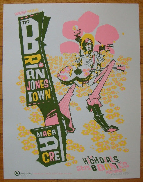 2005 Brian Jonestown Massacre - Concert Poster by Guy Burwell