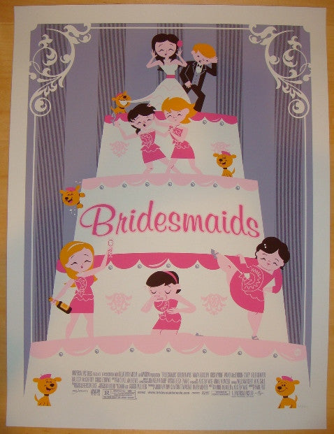 "2012 ""Bridesmaids"" - Silkscreen Movie Poster by Dave Perillo"