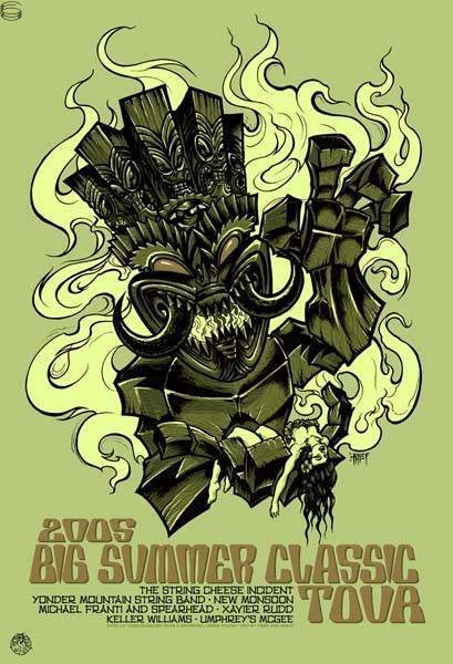 2005 Big Summer Classic - Silkscreen Tour Poster by Wood & Thief