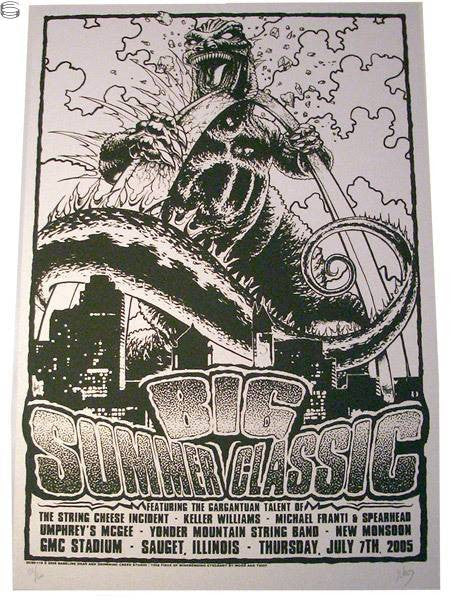 2005 Big Summer Classic - Variant Concert Poster by Wood & Thief