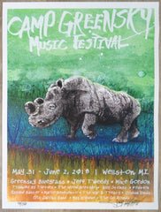 2018 Camp Greensky Festival - Wellston Silkscreen Concert Poster by Joey Feldman