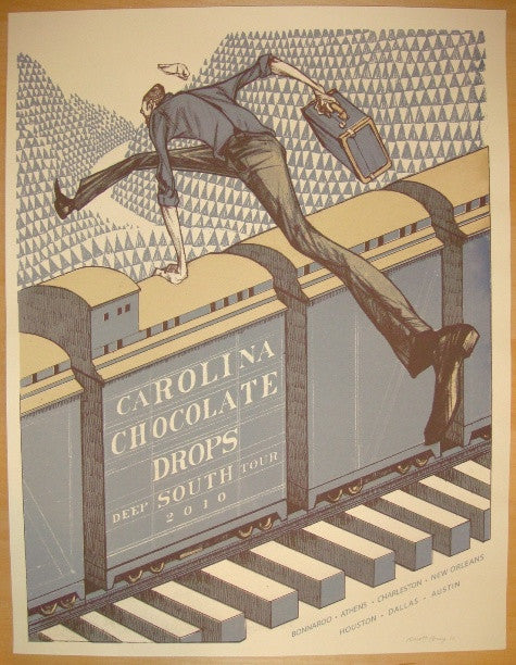 2010 Carolina Chocolate Drops - South Tour Poster by Rich Kelly