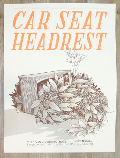 2017 Car Seat Headrest - Chicago Silkscreen Concert Poster by Justin Santora