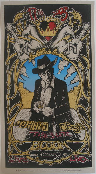 2003 Johnny Cash Tribute - Silkscreen Concert Poster by Malleus
