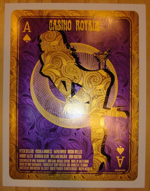 "2012 ""Casino Royale"" - Movie Poster by David O'Daniel"