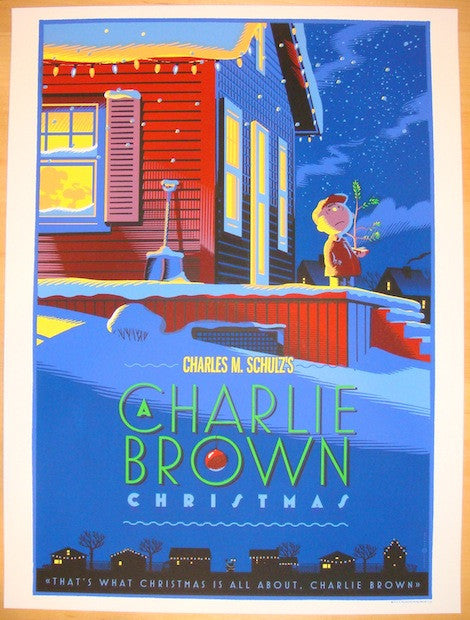"2012 ""A Charlie Brown Christmas"" - Silkscreen Movie Poster by Laurent Durieux"