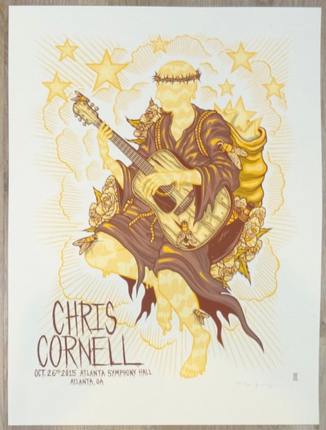 2015 Chris Cornell - Atlanta Silkscreen Concert Poster by Jim Mazza