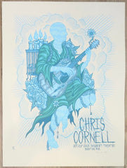2015 Chris Cornell - Boston Silkscreen Concert Poster by Jim Mazza