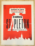 2017 Chris Stapleton - Camden Silkscreen Concert Poster by Andy Vastagh