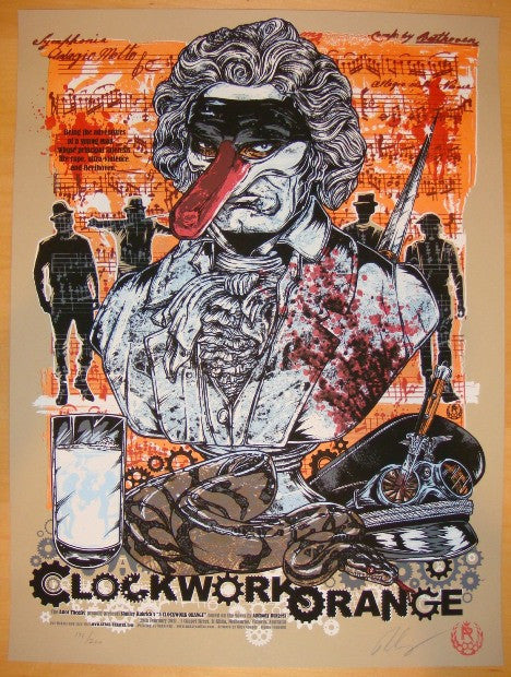 "2011 ""Clockwork Orange"" - Silkscreen Movie Poster by Cooper"
