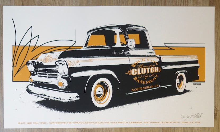 2007 Clutch - Nottingham UK Silkscreen Concert Poster by Jeral Tidwell