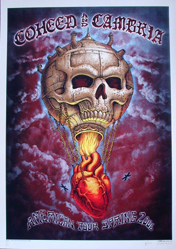 2006 Coheed and Cambria - Blood Variant Concert Poster by Emek