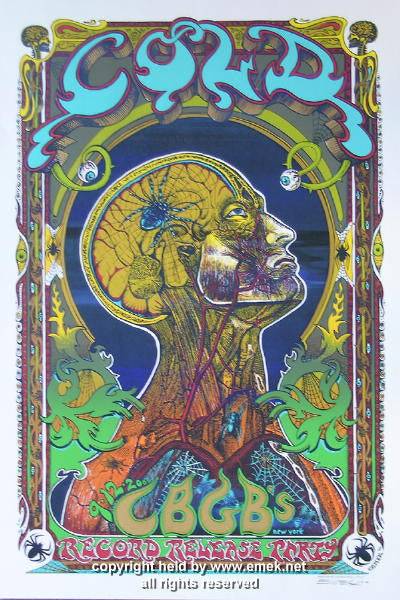 2000 Cold Blue Variant Silkscreen Poster by Emek