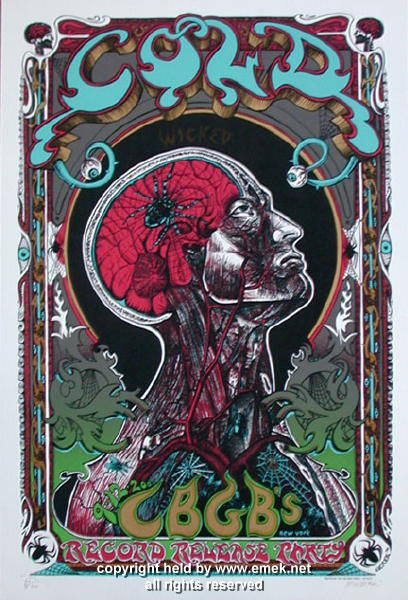 2000 Cold Red Variant Silkscreen Poster by Emek