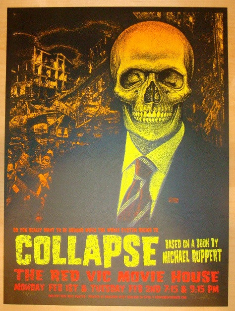 "2010 ""Collapse"" - Silkscreen Movie Poster by David Hunter"