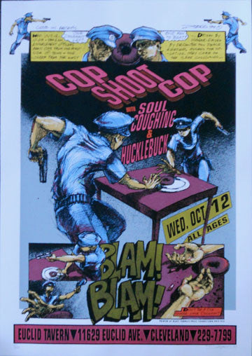 1994 Cop Shoot Cop & Soul Coughing (94-22) Concert Poster - Hess