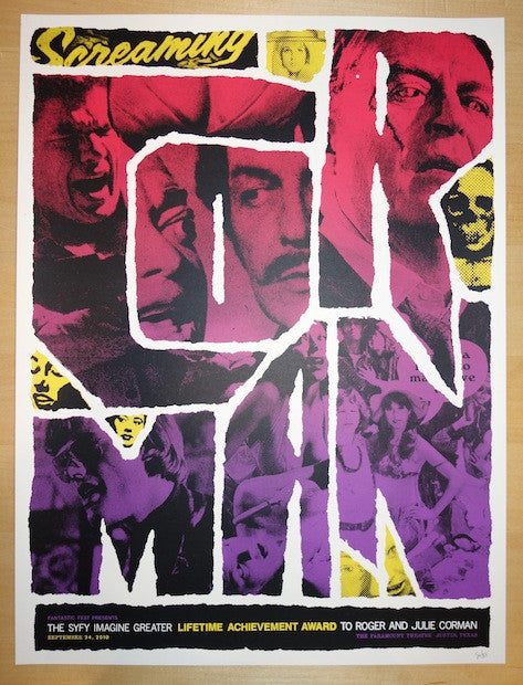 "2010 ""Roger Corman Gala"" - Silkscreen Movie Poster by Zach Hobbs"