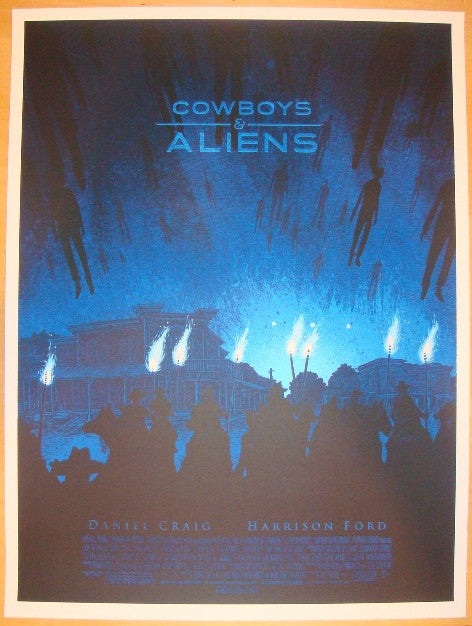 "2011 ""Cowboys & Aliens"" - Movie Poster by Daniel Danger"