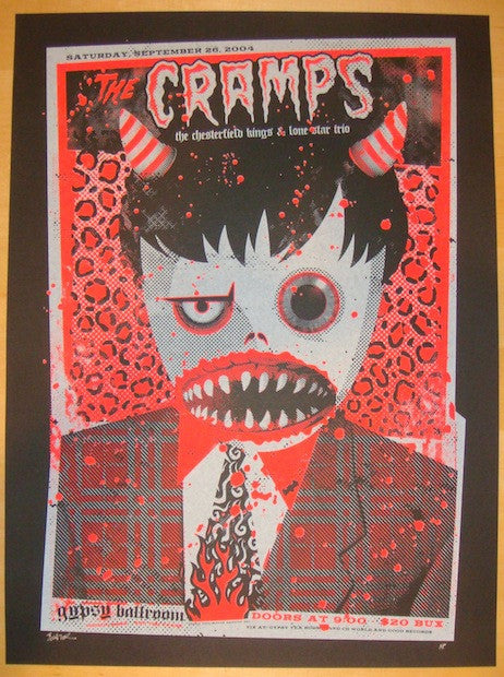 2004 The Cramps - Dallas Concert Poster by Todd Slater