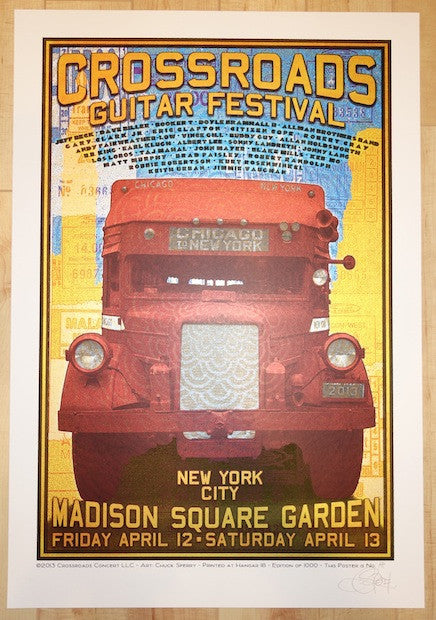 2013 Crossroads Festival - NYC Concert Poster by Chuck Sperry