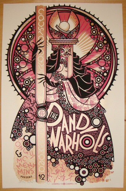 2010 The Dandy Warhols - Portland Concert Poster by Guy Burwell