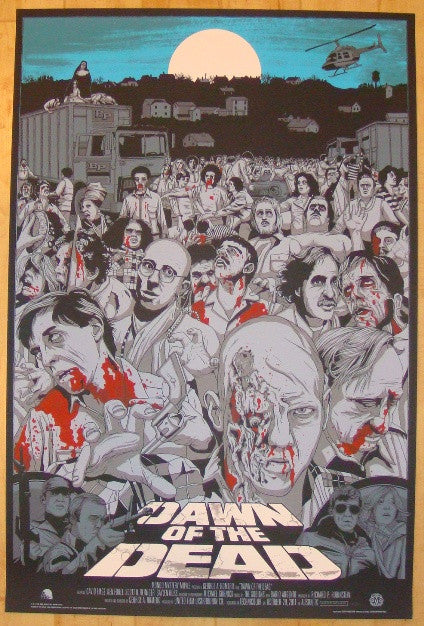 "2011 ""Dawn Of The Dead"" - Variant Movie Poster by Jeff Proctor"
