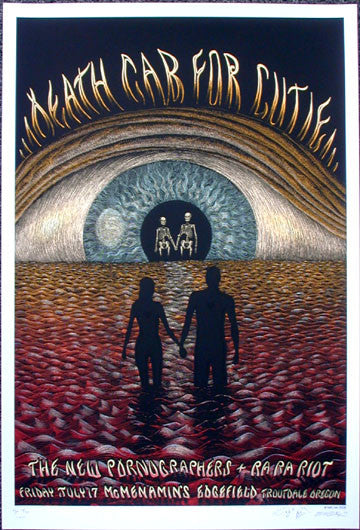 2009 Death Cab For Cutie - Silkscreen Concert Poster by Emek