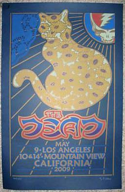 2009 The Dead - California Tour Concert Poster by Gary Houston