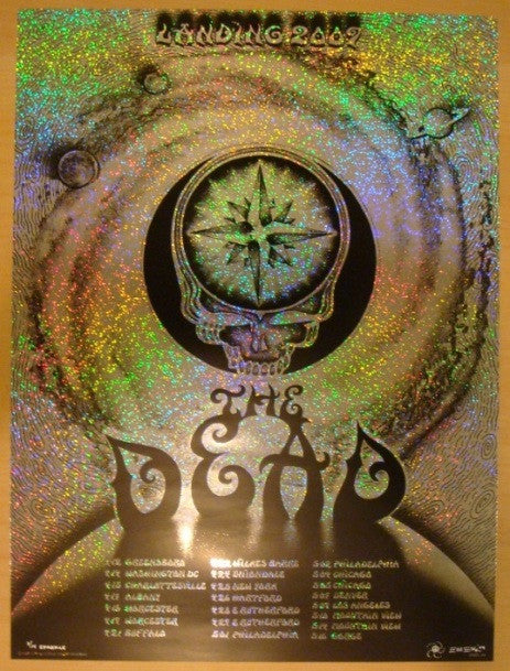 2009 The Dead - Spring Tour Sparkle Foil Variant Poster by Emek