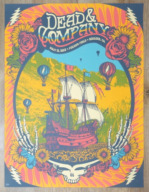 2018 Dead & Company - Boulder I Silkscreen Concert Poster by Status Serigraph