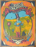 2018 Dead & Company - Boulder II Silkscreen Concert Poster by Status Serigraph