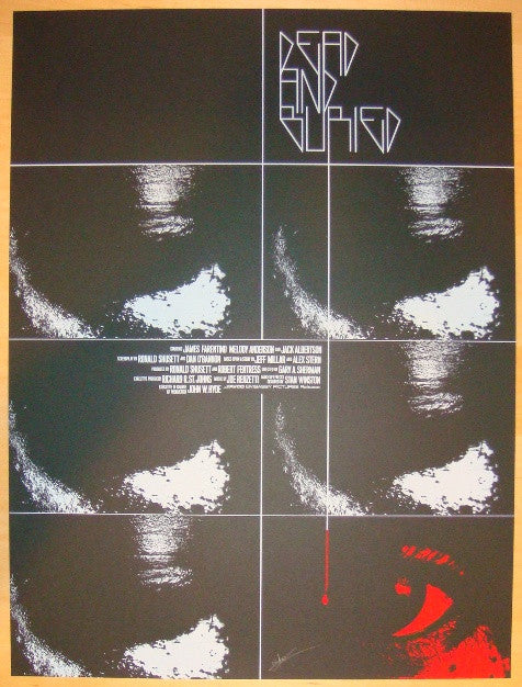 "2012 ""Dead and Buried"" - Silkscreen Movie Poster by Jay Shaw"