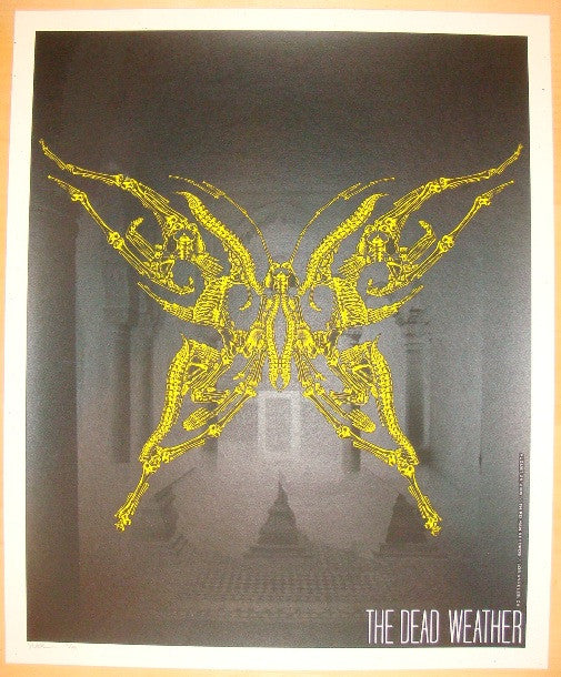 2009 The Dead Weather - LA 1 Concert Poster by Todd Slater