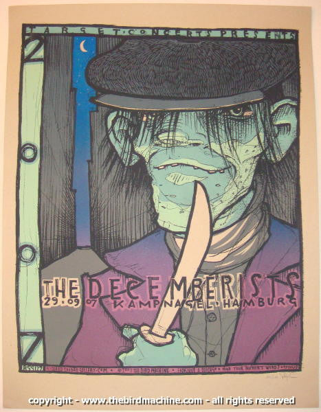 2007 The Decemberists Hamburg Concert Poster by Jay Ryan