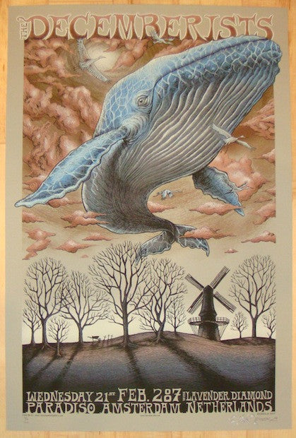 2007 The Decemberists - Khaki Variant Concert Poster by Emek
